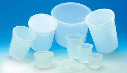 translucent and white multipurpose containers